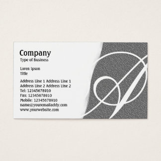 Torn Away - Mid Gray Embossed Texture Business Card