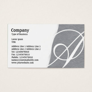 Torn Away - Mid Gray Rough Paper Texture Business Card