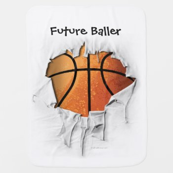 Torn Basketball Baby Blanket by eBrushDesign at Zazzle