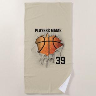Torn Basketball Beach Towel