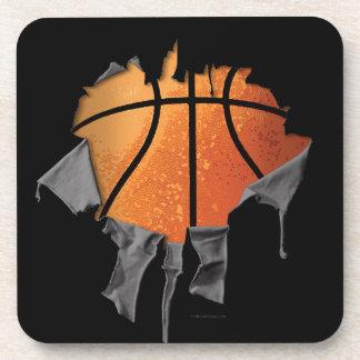 Torn Basketball Beverage Coaster