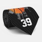 Torn Basketball (dark/personalized) Tie
