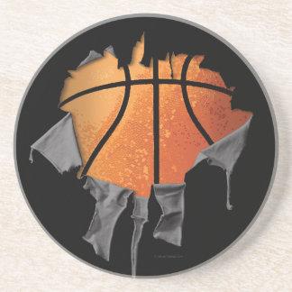 Torn Basketball Drink Coaster