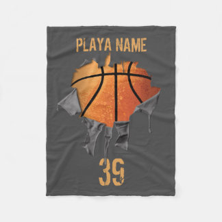 Torn Basketball Fleece Blanket