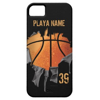 Torn Basketball Iphone Se/5/5s Case by eBrushDesign at Zazzle
