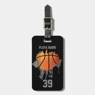 Torn Basketball Luggage Tag