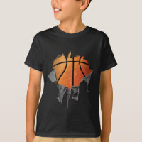 Torn Basketball (number & name) T-Shirt