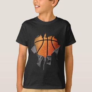 Torn Basketball (number & name) T-Shirt