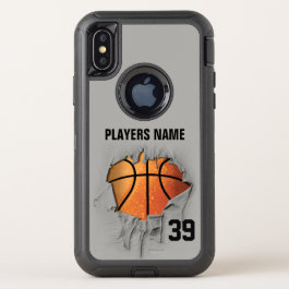 Torn Basketball OtterBox Defender iPhone X Case