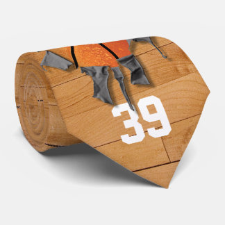 Torn Basketball (personalized) Neck Tie