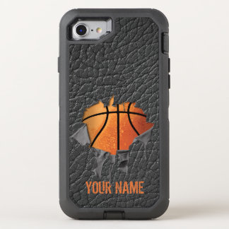 Torn Basketball (personalized) OtterBox Defender iPhone 7 Case