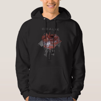 Torn Brick Wall Goalie (Hockey) Hoodie