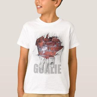 Torn Brick Wall Goalie (Hockey) T-Shirt
