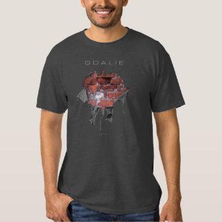 Torn Brick Wall Goalie (Hockey) T Shirt