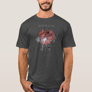 Torn Brick Wall Goalie (Hockey) T-Shirt