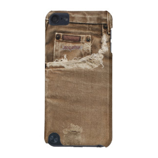 Torn Brown Denim Jeans Pocket  iPod 5 Case