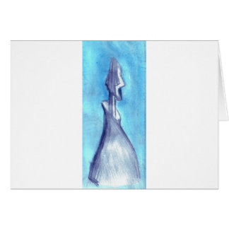 Torn by the blue sky greeting card