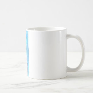 Torn by the blue sky classic white coffee mug