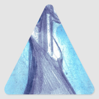 Torn by the blue sky triangle sticker