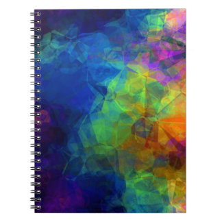 Torn Colorful Rice Paper Notebook