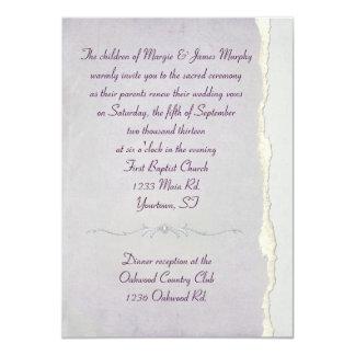 Torn Edge Lavender Wedding Vow Renewal Card