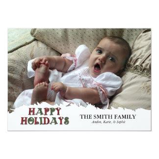 Torn Edge Photo Holiday Card