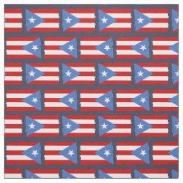 Torn Edges: Puerto Rico Flag Fabric