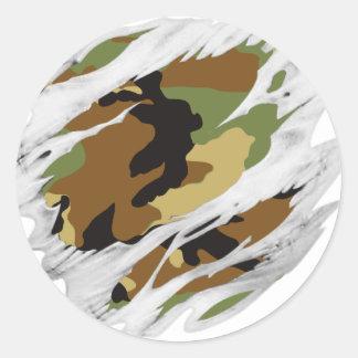 Torn Flesh Camo Classic Round Sticker