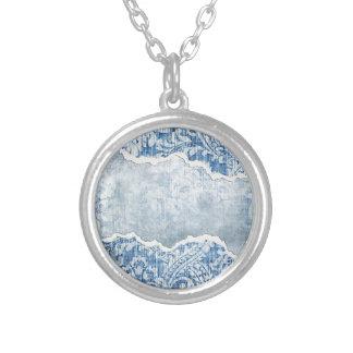 Torn Floral Blue Custom Jewelry