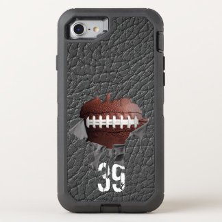 Torn Football (personalized) OtterBox Defender iPhone 8/7 Case