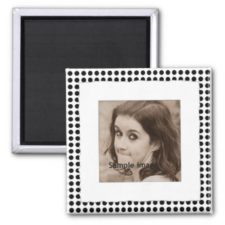 Torn Frame Instagram Photo Make Your Own Dots 2 Inch Square Magnet