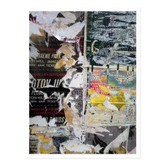 torn gig posters postcard