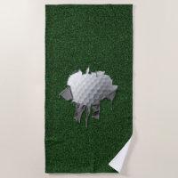 Torn Golf Ball Beach Towel