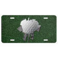 Torn Golf Ball License Plate