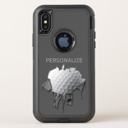 Torn Golf Ball OtterBox Defender iPhone X Case
