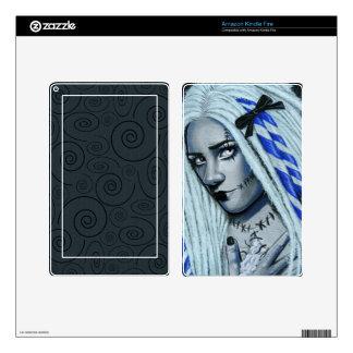 Torn Gothic Ragdoll Fantasy Art Kindle Fire Skin