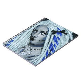 Torn Gothic Ragdoll spiral notebood Notebook