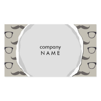 torn hipster mustache and glases Double-Sided standard business cards (Pack of 100)