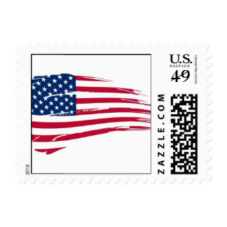 Torn Old Glory Postage Stamp
