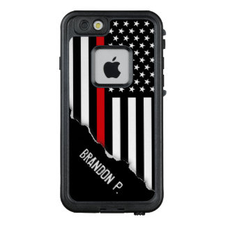 Torn Out Look Firefighter Flag Custom Name LifeProof FRĒ iPhone 6/6s Case