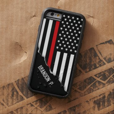 birthday Torn Out Look Thin Red Line American Flag Tough Xtreme iPhone 6 Case