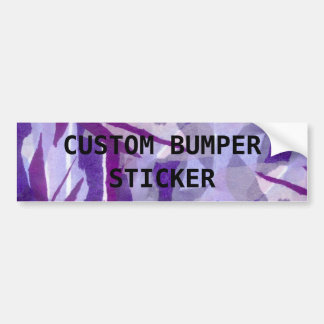 Torn paper collage background in shades of purple bumper sticker