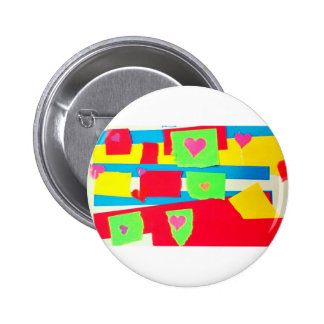Torn Paper Collage Pinback Button