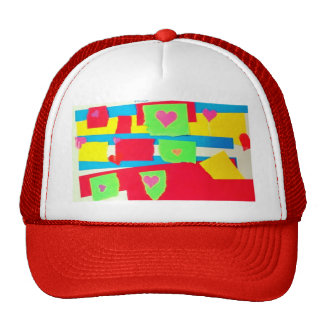 Torn Paper Collage Trucker Hats