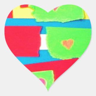 Torn Paper Collage Heart Sticker