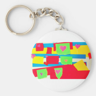 Torn Paper Collage Key Chains
