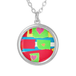 Torn Paper Collage Pendants