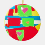 Torn Paper Collage Ornaments
