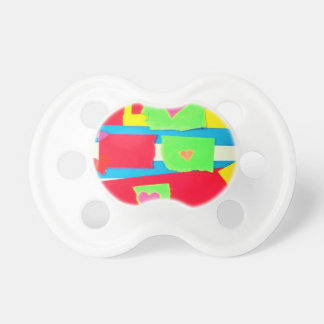 Torn Paper Collage Pacifiers