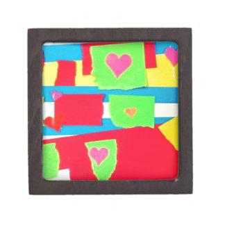 Torn Paper Collage Premium Jewelry Box
